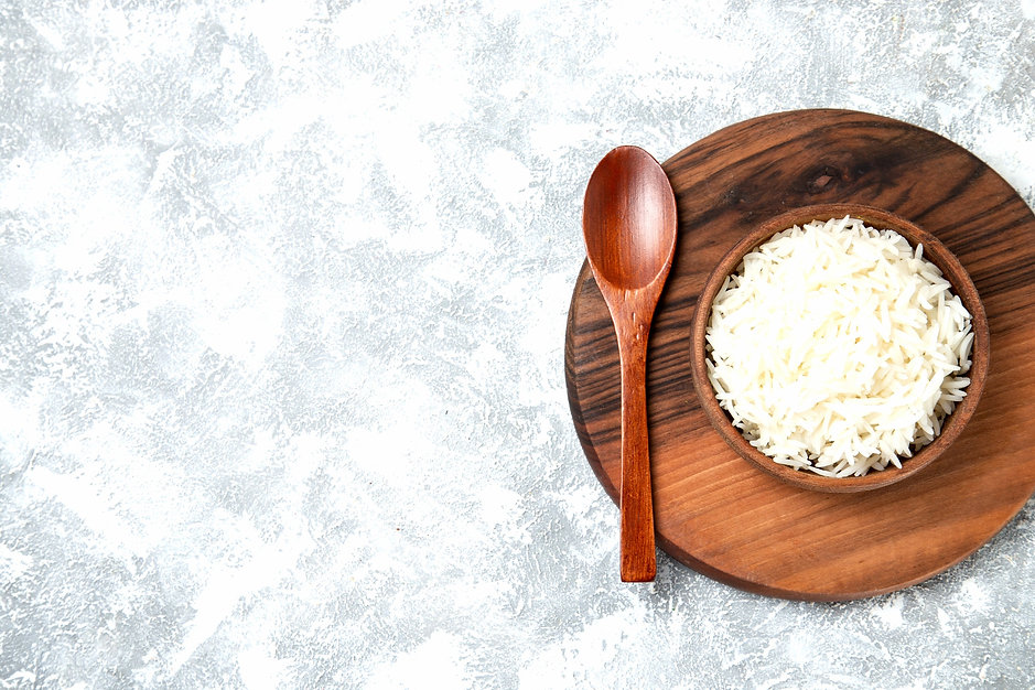 top-view-yummy-cooked-rice-inside-plate-