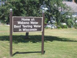 Wabeno Water Sign, Wabeno