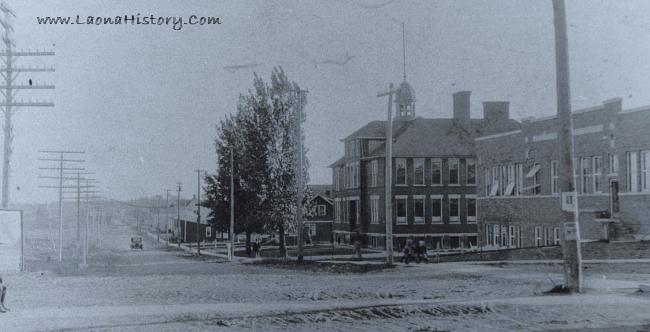 Linden Street, Laona, circa 1930