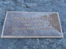 Cavour Centennial Plaque, Cavour