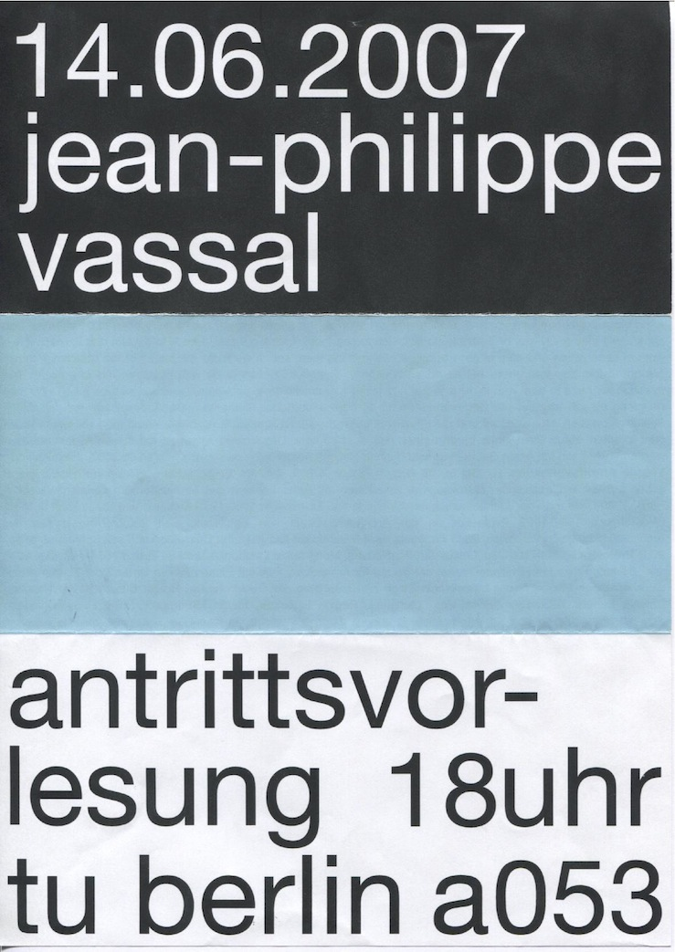 JEAN PHILIPPE VASSAL FOR THE FUTURE NOW