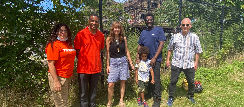 At Westchester Avenue Station with US Rep. Ritchie Torres
