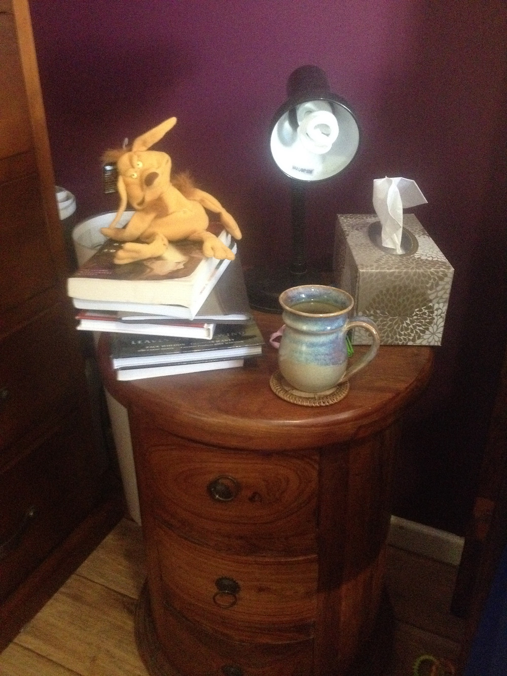 Salacious Crumb presides over my TBR pile.
