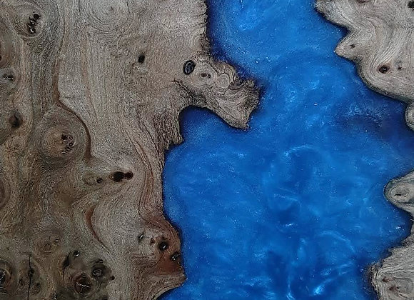 River Table - Elm/Blue