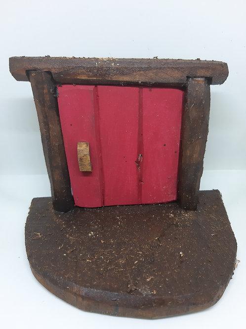 Red Fairy House Door