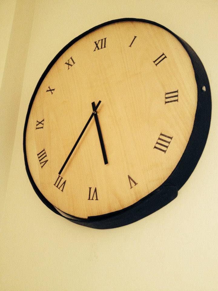 beer barrel giant clock