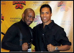 #NYCC - In search of _The Glow_  I found Taimak _Bruce Leroy_ Guarriello getting ready to celebrate
