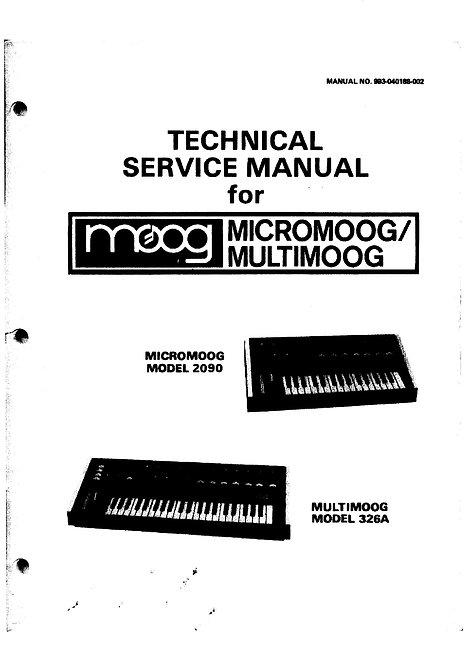 Micromoog / Multimoog Service Manual