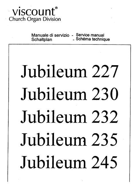 Jubileum 227 / 230 / 232 / 235 / 245 Service Manual