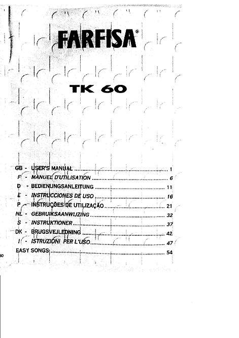 TK 60 Owners Manual