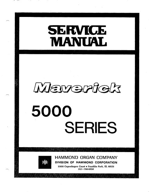 Maverick 5000 Series Service Manual