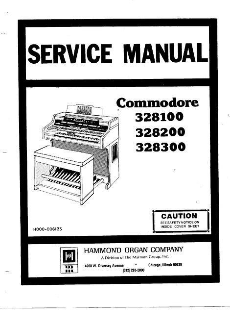 328100 / 328200 / 328300 Commodore Service Manual