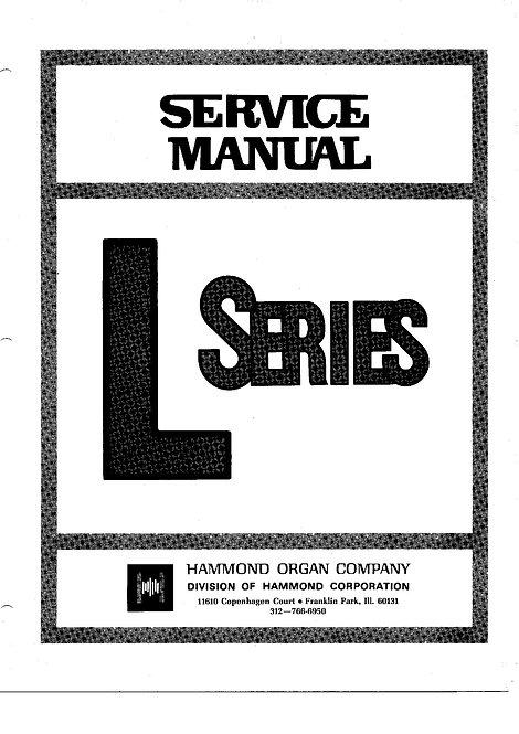 L Series Service Manual....L-100 / L-100A / L-100-1 / L-100-2 / L200