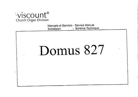 Domus 827 Service Manual
