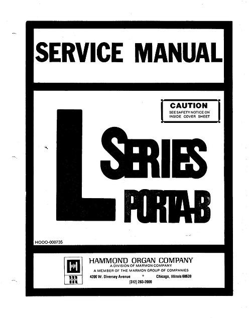 L Series Porta B Service Manual