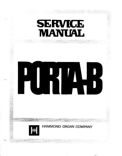 Porta B Service Manual