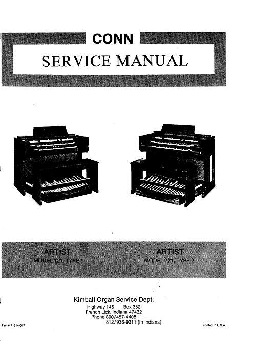 Artist 721 Type 1 & 2 Service Manual