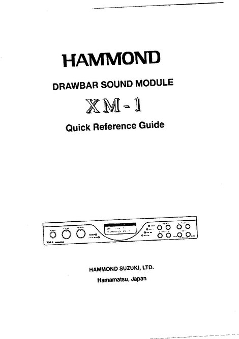 XM-1 Owners Manual