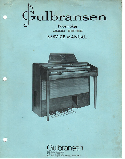 2000 Series Pacemaker Service Manual