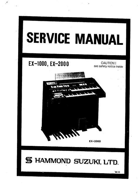 EX-1000 / EX-2000 Service Manual