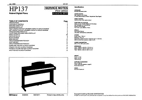 HP137 Service Notes