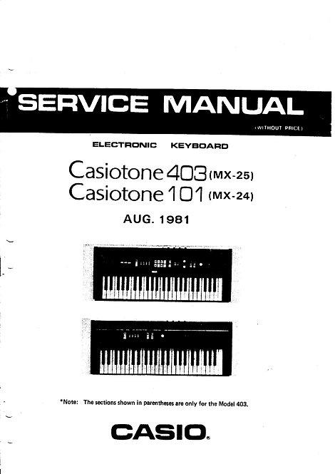 Casiotone 403 / 101 Service Manual