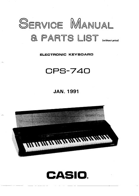 CPS-740 Service Manual
