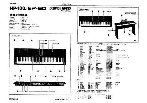 HP-100 / EP-50 Service Manual