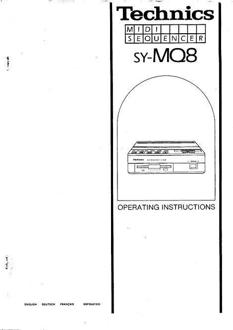 MQ8 Midi Sequencer Owners Manual