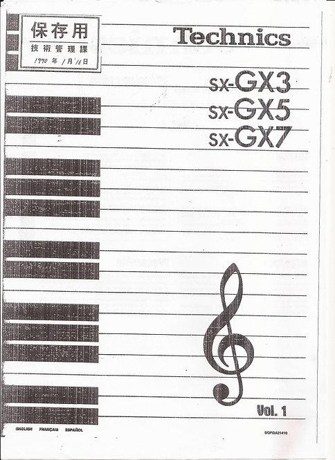 GX3 GX5 GX7 Owners Manual Vol 1