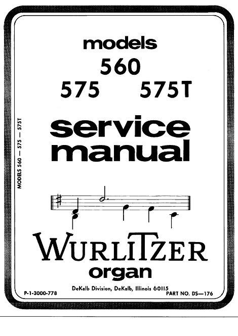 560 - 575 - 575T Service Manual