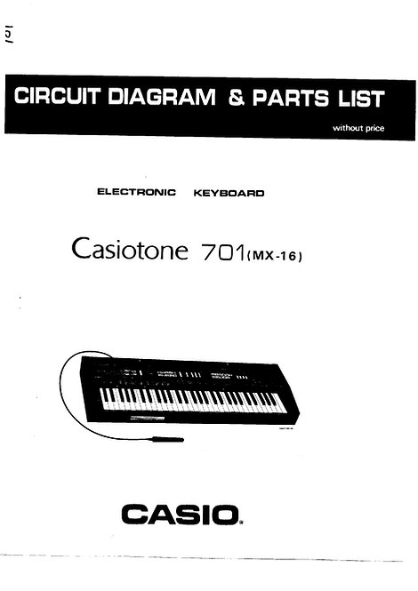 Casiotone 701 (MX-16) Service Manual