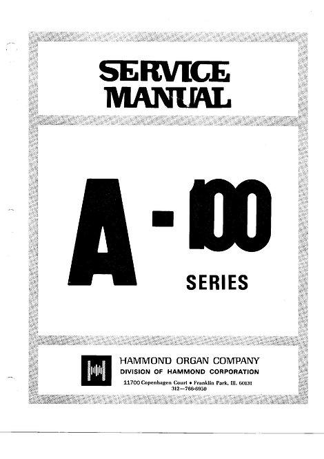 A-100 Series Service Manual