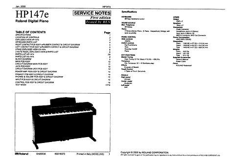 HP147e Service Notes