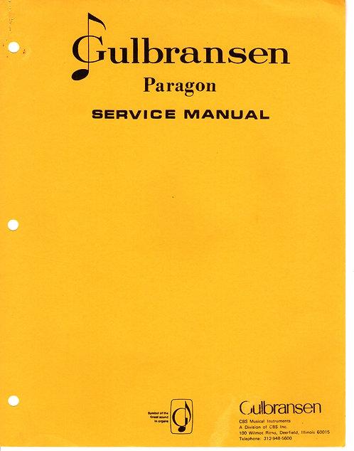 Paragon Service Manual