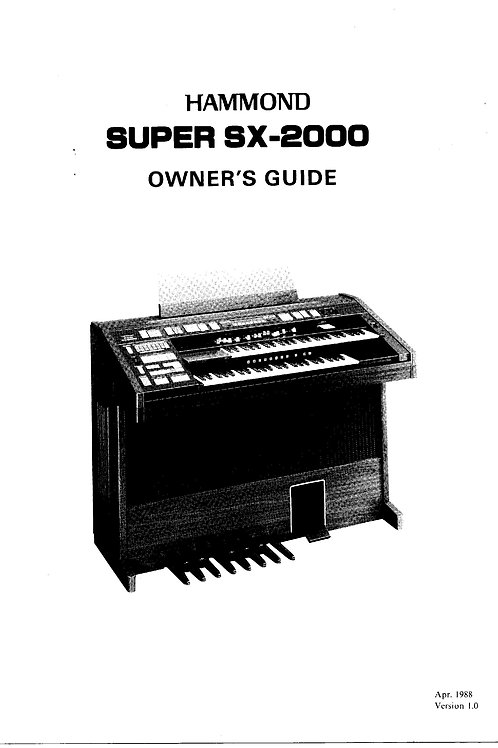 Super SX-2000 Owners Manual