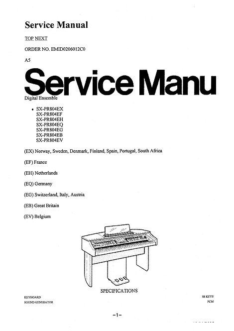 PR804 Service Manual