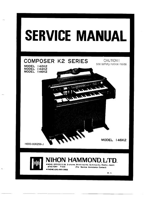 Composer K2 Series 142K2 - 144K2 - 146K2 Service Manual