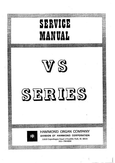 VS Series Spinet Service Manual