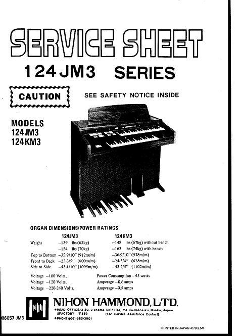 124 JM3 Service Sheet