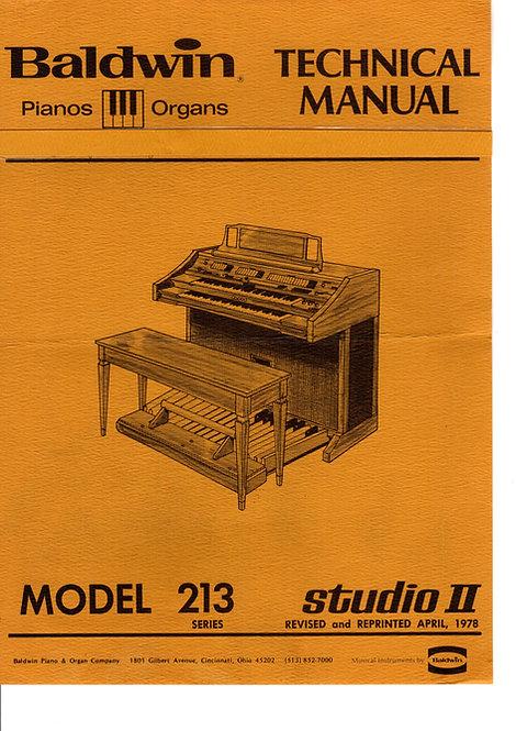 213 Studio II Service Manual