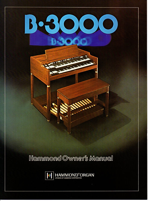 B3000 Owners Manual