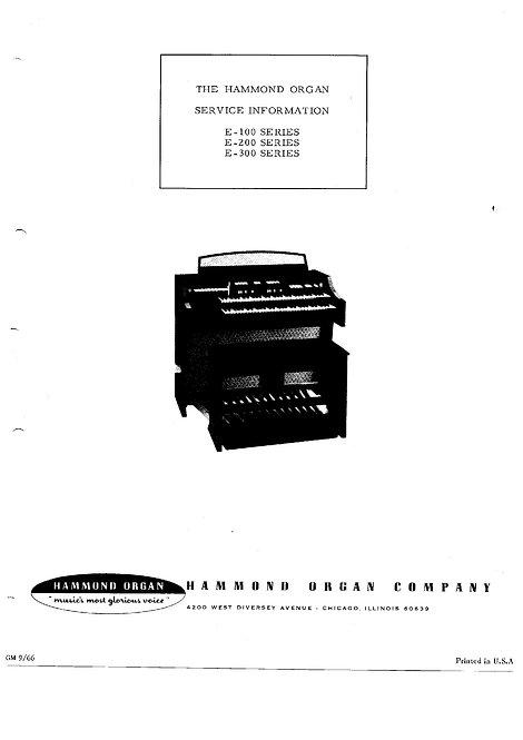 E-100 - E-200 - E-300 Service Information