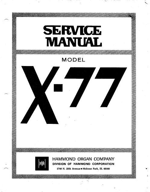X77 Service Manual