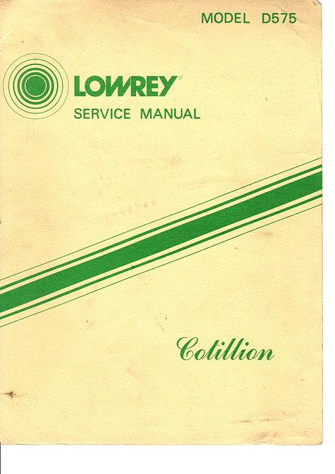 D575 Cotillion Service Manual