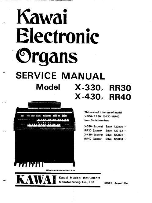 X-330 / X-430 Service Manual