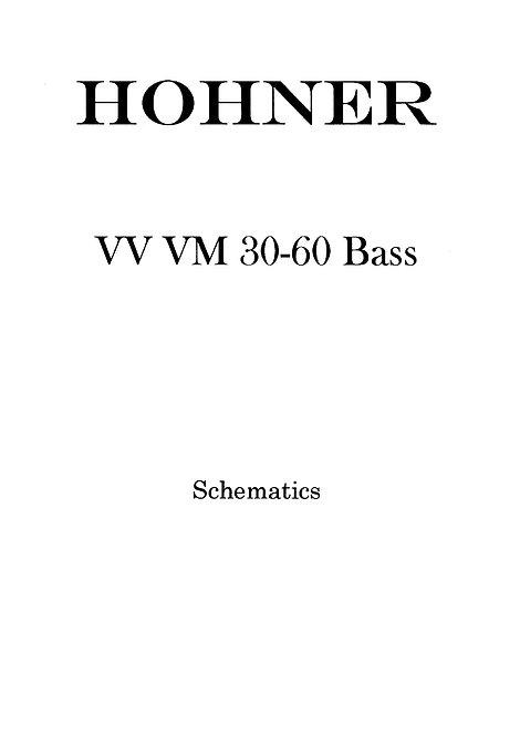 VV VM 30-60 Bass Schematics