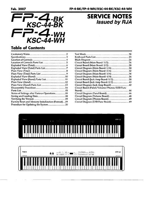FP-4 / KSC-44 Service Notes