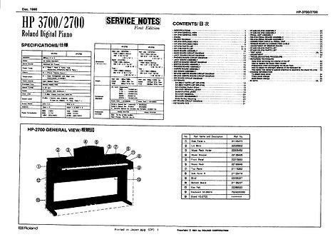 HP-3700 / HP-2700 Service Manual
