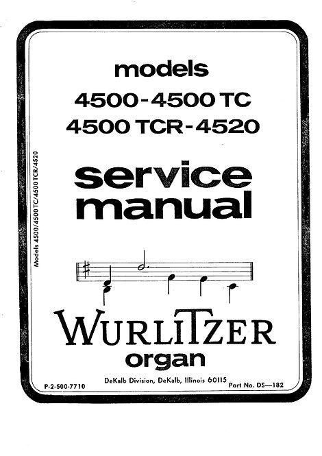 4500 - 4500TC - 4500TCR - 4520 Service Manual